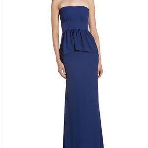 BCBG Max Azria Ruella Gown Navy Blue Size 0 Silk
